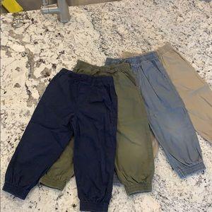 Lot of 4 jogger boys pants 3T